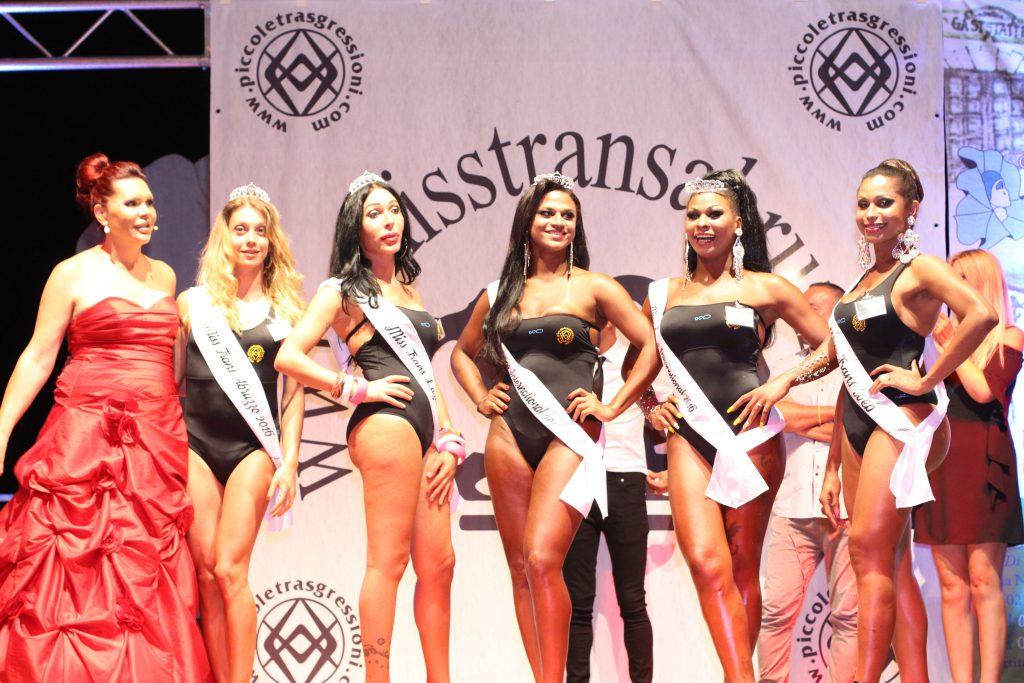 Foto delle vincitrici del 10° concorso di Miss Trans Abruzzo (e Lazio) 2016.