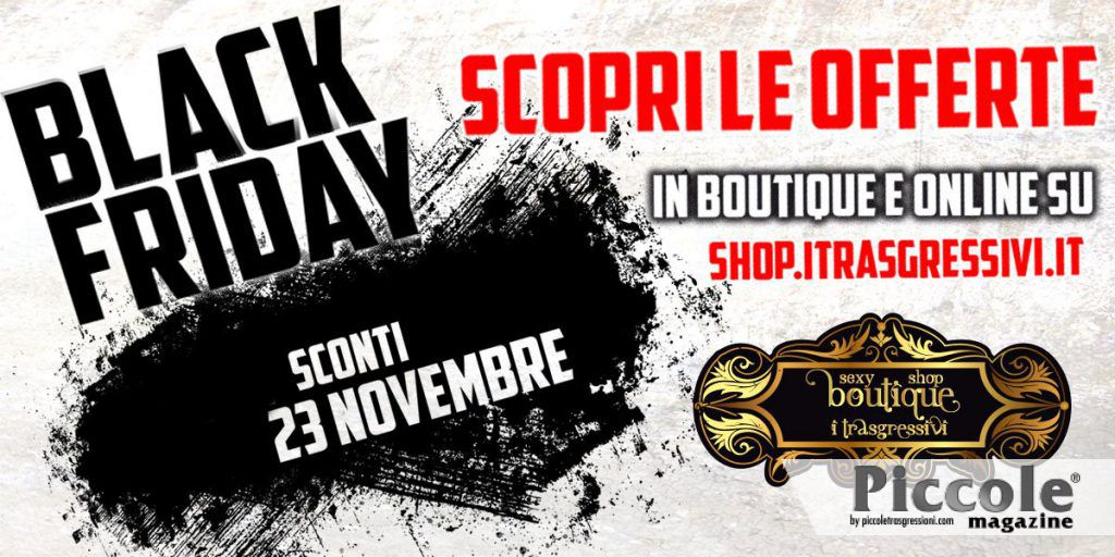 Black Friday al sexy shop Boutique I Trasgressivi