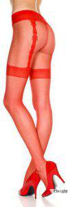 Calze velate rosse french cut by Music Legs
