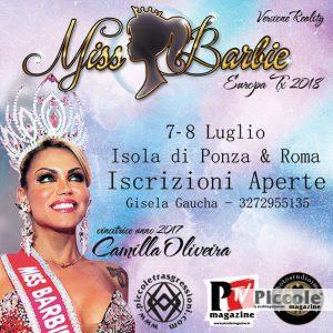 Concorso Miss Barbie Europa Tx 2018 Organizzato da Gisela Gaucha