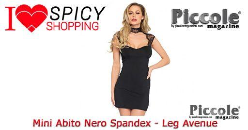 Mini Abito Nero Spandex - Leg Avenue