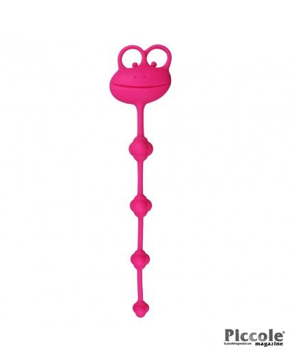 """10"""" SILICONE FROG ANAL BEADS – LOVETOY"""