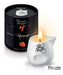 Candela Per Massaggi Alla Fragola - Plaisirs Secrets